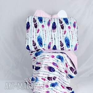 handmade dla dziecka poduszka pióra boho 45 x 60