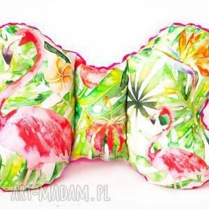hand made dla dziecka poduszka podróżna flamingi