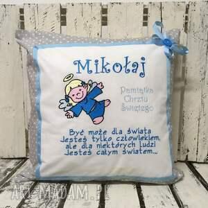 prezent chrzest dla dziecka poduszka spersonalizowana