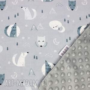 poduszka dla dziecka niebieskie wilki