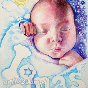 ręcznie robione dla dziecka portret bobasa