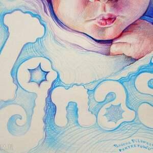 portret dla dziecka kolorowe bobasa