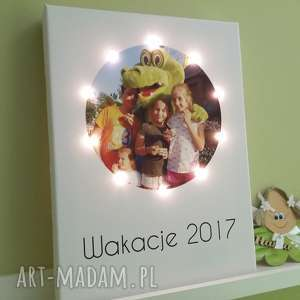 dla dziecka płótno świecąca litera led personalizowany