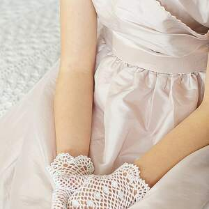 unikalne dla dziecka ażurowe rękawiczki komunijne