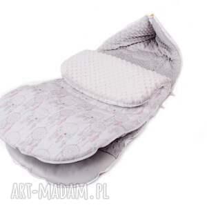 eleganckie dla dziecka śpiworek łapacze szary