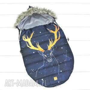 szare dla dziecka śpiworek zimowy deer