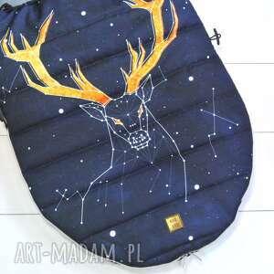 spiworek dla dziecka niebieskie śpiworek zimowy deer