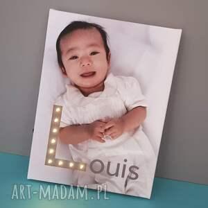 dla dziecka obraz świecąca litera led personalizowany