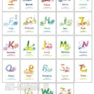 prezent dla dziecka świecąca metryczka imię