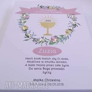 ręczne wykonanie dla dziecka prezent świecąca pamiątka komunii świętej