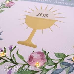 prezent dla dziecka świecąca pamiątka komunii świętej