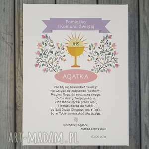 dla dziecka z okazji komunii świecąca pamiątka świętej