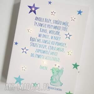 oryginalne dla dziecka prezent świecący obraz led modlitwa anioł