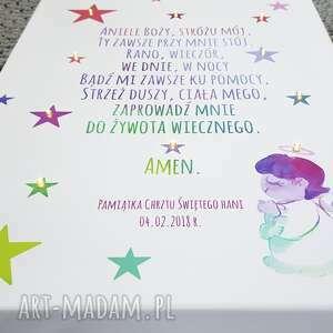 dla dziecka modlitwa świecący obraz personalizowany