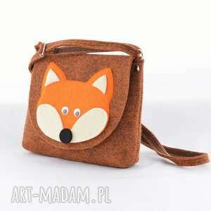 beżowe dla dziecka lisek torebka dziecięca - rudy lis