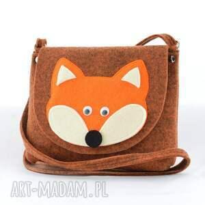 lis dla dziecka pomarańczowe torebka dziecięca - rudy lis