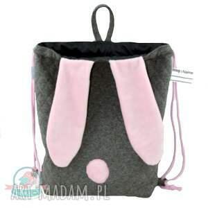 wyjątkowe dla dziecka worek worek-plecak królik róż