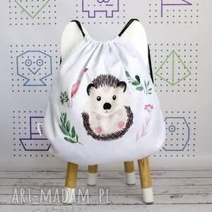 worek dla dziecka białe z imieniem jeżyk