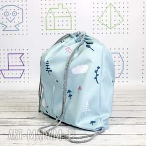 szare dla dziecka plecak worek z imieniem lis