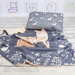 oryginalne dla dziecka sarenki zestaw 75x100 kocyk płaska poduszka