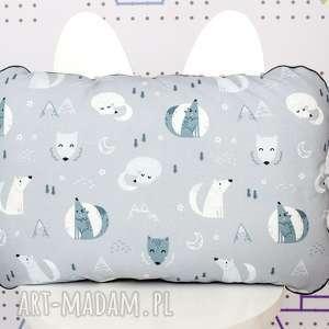 pomysły na upominki świąteczne niebieskie zestaw kocyk i płaska poduszka