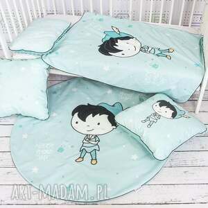 NuvaArt handmade łóżeczka zestaw kocyk i płaska poduszka