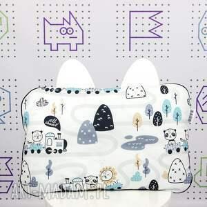 dla dziecka ciuchcie zestaw kocyk i płaska poduszka