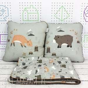 beżowe dla dziecka poduszki zestaw kocyk i 2 wild one