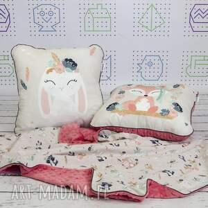 efektowne dla dziecka zestaw kocyk i 2 poduszki bohemian