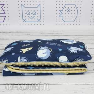 handmade dla dziecka zestw zestaw kocyk i płaska poduszka