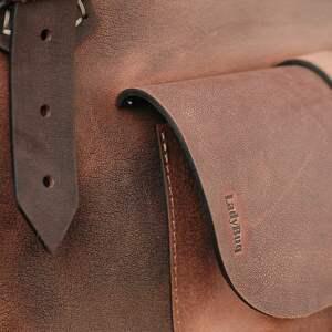 nietuzinkowe torba na każdą okazję brązowa ręcznie robiona