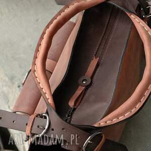 torba na każdą okazję brązowa ręcznie robiona