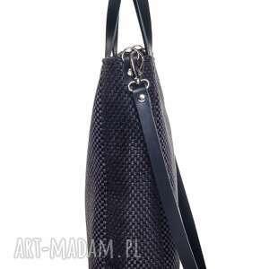 ręcznie zrobione do ręki modna czarna torebka cuboid all black