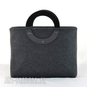plexi duża torebka z filcu
