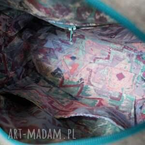 cekiny do ręki turkusowe filcowa torebka / kuferek