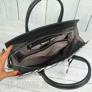 czarne skóra klasyczna torebka w stylu