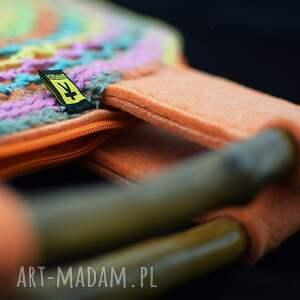 wiosenna do ręki kolorowa torba ażurowa