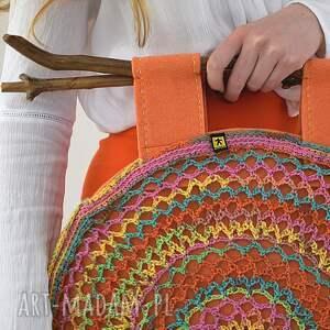 intrygujące do ręki wiosenna kolorowa torba ażurowa