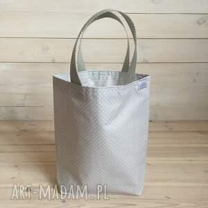 białe lunch lunchbag czyli torby na drugie śniadanie. są