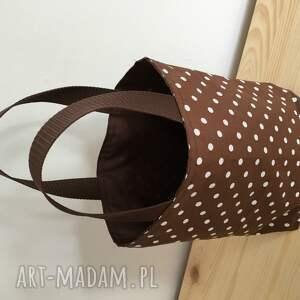 kanapki lunch bag by wkml brązowa - duże