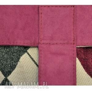 różowe do ręki torebki-damskie 13-0011 różowa torebka damska