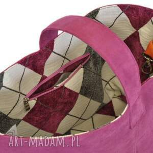 niepowtarzalne do ręki torebki-damskie 13-0011 różowa torebka damska