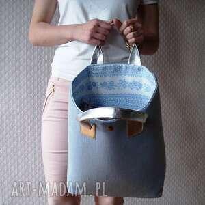 nietuzinkowe shopper bag pastelowa torba