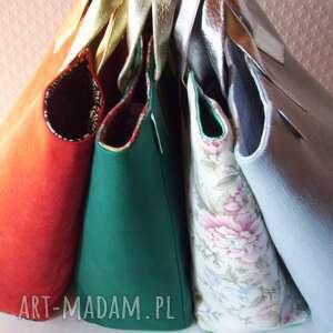 białe xl shopper bag pastelowa torba