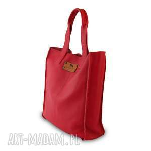 do ręki torebka skórzana shopper bag -50%