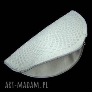 handmade do ręki torebeczka ślubna torebka ażurowa