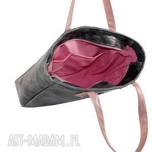 czarne do ręki elegancka torba damska cuboid maxi ii