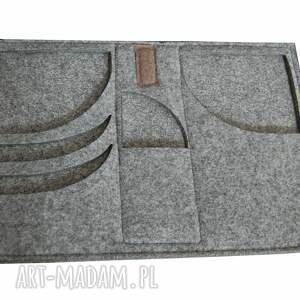 ręczne wykonanie torba na laptopa z filcu