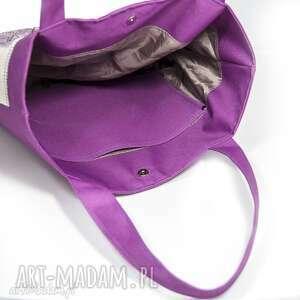 fioletowe torba zapraszam do zakupu pakownej torby z motywem