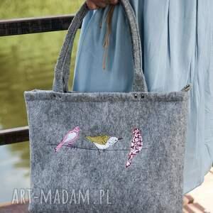 gustowne torba do ręki torebka filcowa